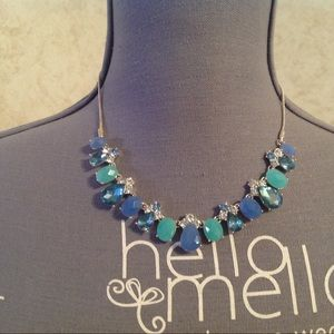 Nine West Silver Tone Blue Beaded Necklace